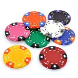 AK-Suits clay composite poker chips.