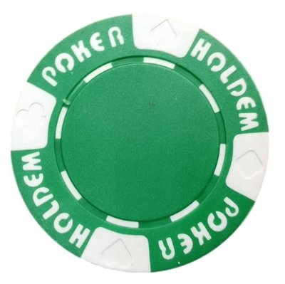 Poker Hold'em Groen pokerchip
