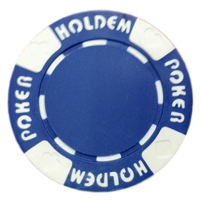 Poker Hold'em blue pokerchip