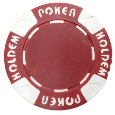 Poker Hold'em Red pokerchip