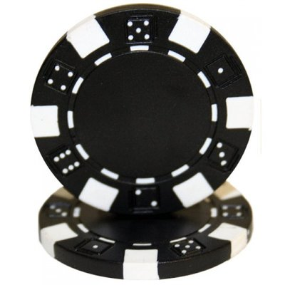 Dice pokerchips zwart