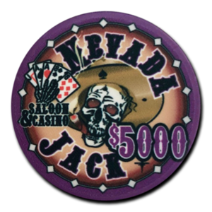 Keramische pokerchips Nevada Jack 5000