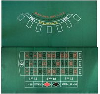 BlackJack & Roulette laken 180 x 90.